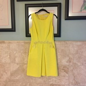 Trina Turk  |  yellow dress *NEON TREND*